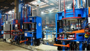 Installation of the fourth line of curing presses for pneumatic tyres